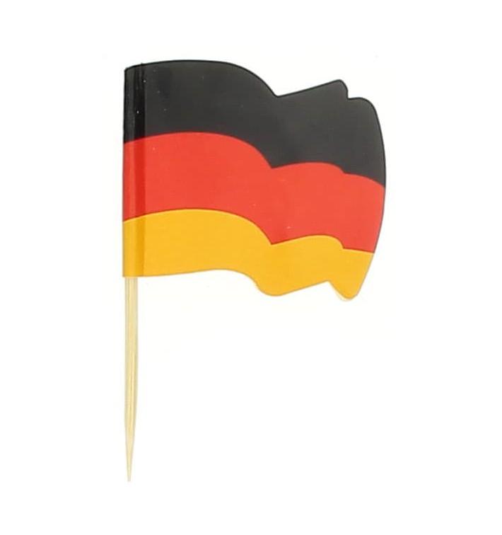 """Pinchos Banderita """"Alemania"""" 65mm (14.400 Uds)"""