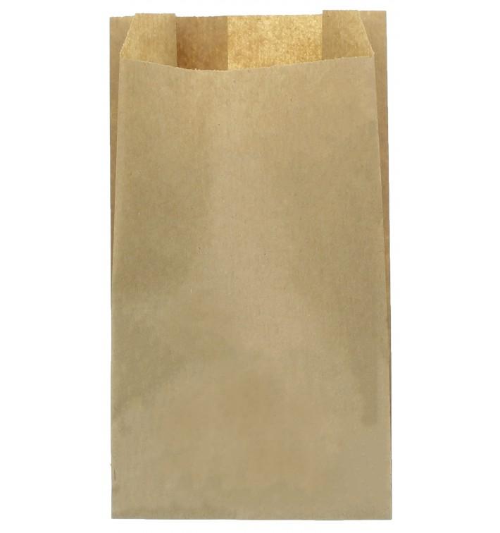 Bolsa de Papel Kraft 14+7x24cm (100 Unidades)