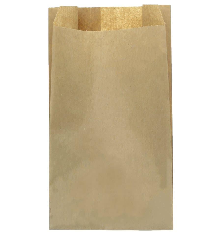 1348b5082 Bolsa de Papel Kraft 18+7x32cm (100 Unidades) - MonoUso