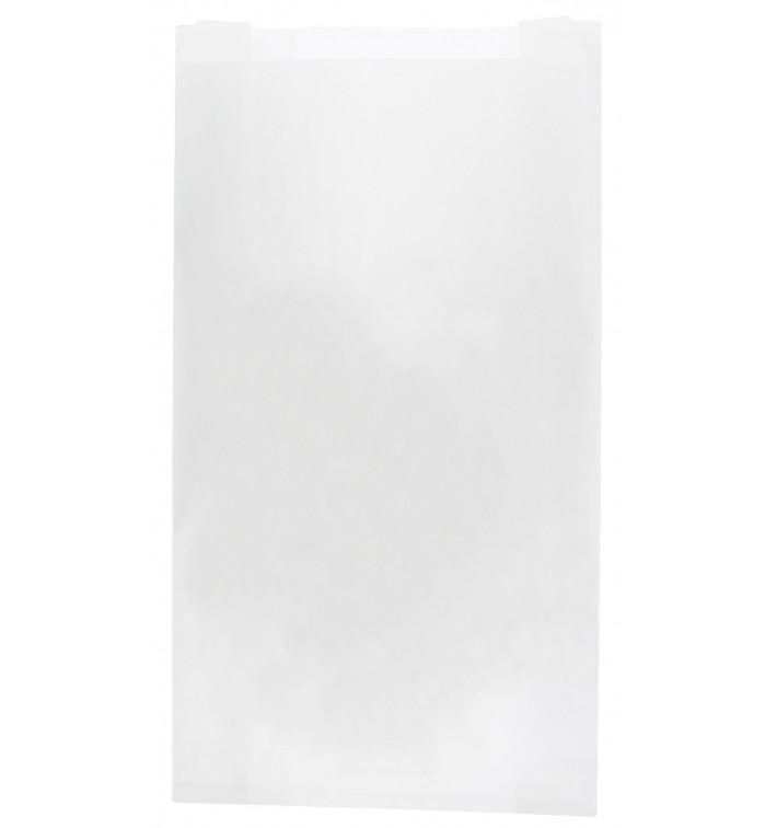 Bolsa de Papel Blanca 18+7x32cm (100 Unidades)