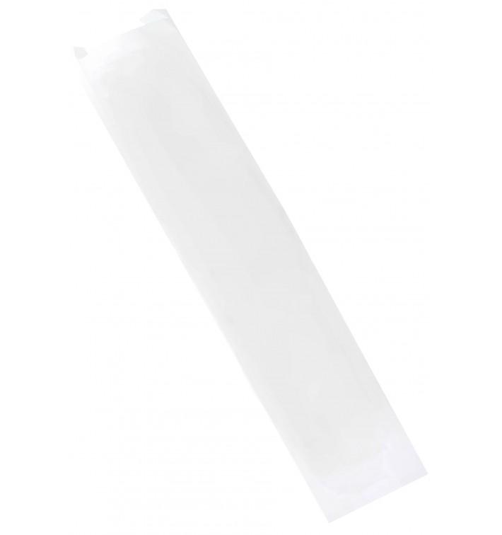 Bolsa de Papel Blanca 9+5x24cm (1000 Unidades)
