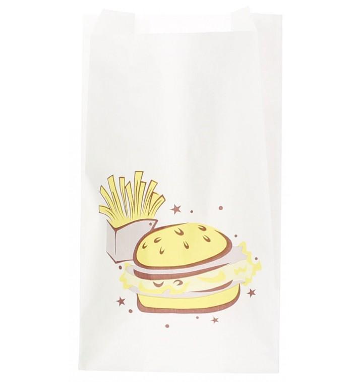 """Bolsa para Hamburguesa """"Saky Food"""" 14+7x24cm (250 Uds)"""