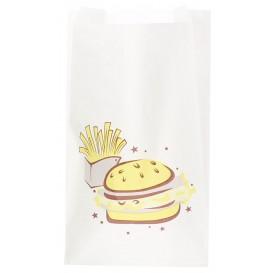 """Bolsa para Hamburguesa """"Saky Food"""" 14+7x24cm (1000 Uds)"""