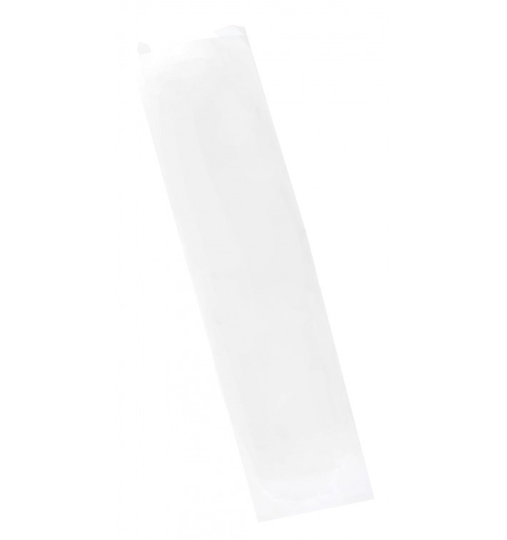 Bolsa de Papel Blanca 9+5x32cm (1000 Uds)