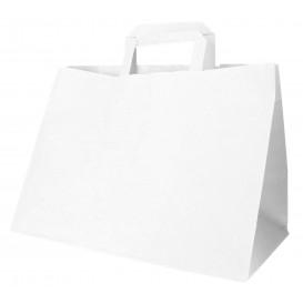 Bolsa Papel Blanca con Asas Planas 70g 32+20x23cm (250 Uds)