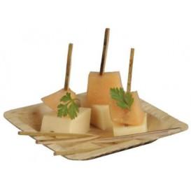 Plato Cuadrado de Bambú 12x12x1cm (10 Uds)