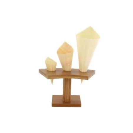 Soporte de Bambú para Cucurucho 3 Huecos (1 Ud)