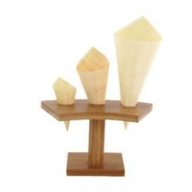 Soporte de Bambú para Cucurucho 3 Huecos (10 Uds)
