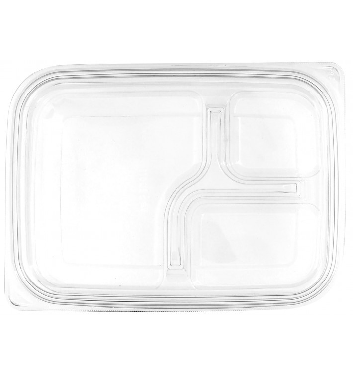 Tapa Plana Plástico para Envase PET 22x16cm (300 Uds)