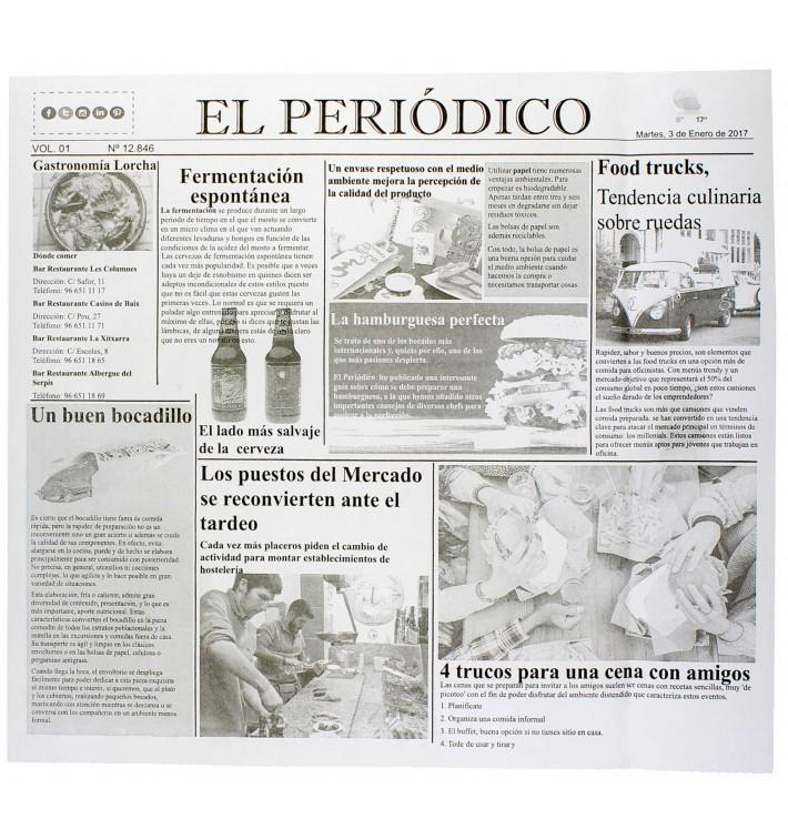 "Envuelta Antigrasa ""Periodico"" 28x31cm (1000 Unidades)"