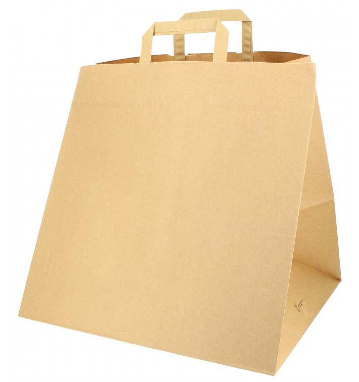 Bolsa Papel Cajas Pizza Asas 80g 37+33x32 cm (25 Uds)