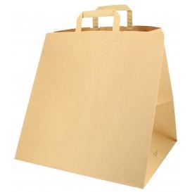 Bolsa Papel Cajas Pizza Asas 80g 37+33x32 cm (125 Uds)