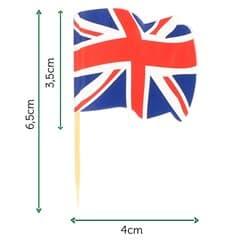 """Pinchos Banderita """"UK"""" 65mm (14.400 Uds)"""