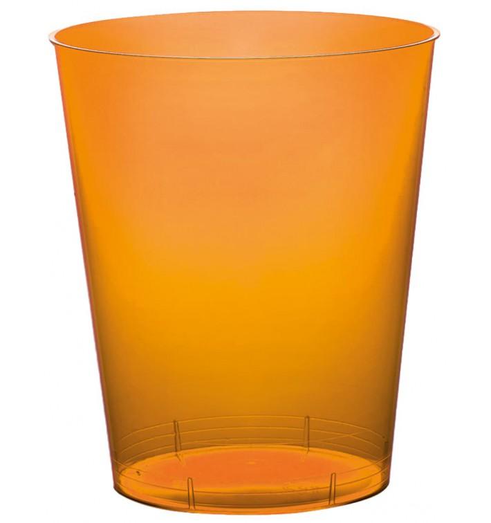 Vaso de Plastico Moon Naranja Transp. PS 350ml (20 Uds)