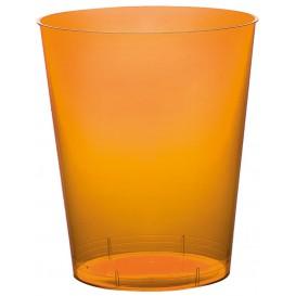 Vaso de Plastico Moon Naranja Transp. PS 350ml (400 Uds)