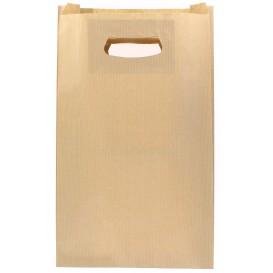 Bolsa Papel Kraft Asas Troqueladas 24+7x37cm (50 Uds)