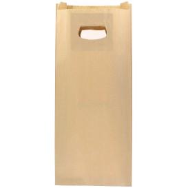 Bolsa Papel Kraft Asas Troqueladas 60g 18+6x32cm (50 Uds)