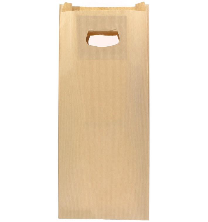 Bolsa Papel Kraft Asas Troqueladas 18+6x32cm (500 Uds)