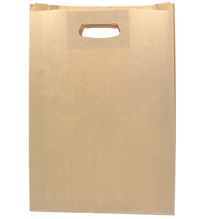 Bolsa Papel Kraft Asas Troqueladas 31+8x42cm (250 Uds)