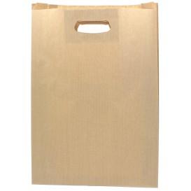 Bolsa Papel Kraft Asas Troqueladas 31+8x42cm (50 Uds)