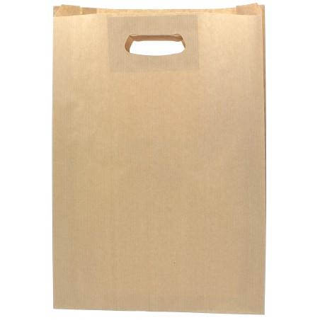 Bolsa Papel Kraft Asas Troqueladas 70g 31+8x42cm (50 Uds)