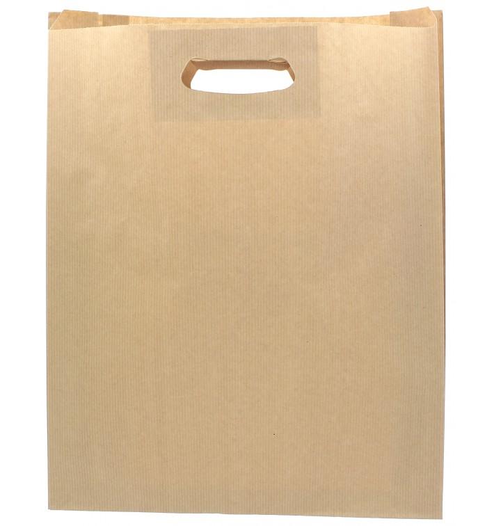 Bolsa Papel Kraft Asas Troqueladas 41+10x42cm (250 Uds)