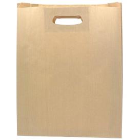 Bolsa Papel Kraft Asas Troqueladas 41+10x42cm (50 Uds)