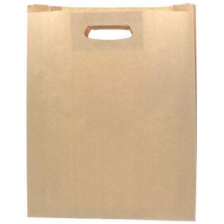 Bolsa Papel Kraft Asas Troqueladas 70g 41+10x42cm (50 Uds)