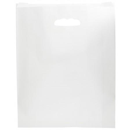 Bolsa Papel Blanco Asas Troqueladas 70g 41+10x42cm (250 Uds)