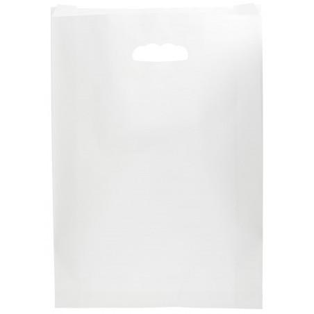 Bolsa Papel Blanco Asas Troqueladas 70g 31+8x42cm (50 Uds)