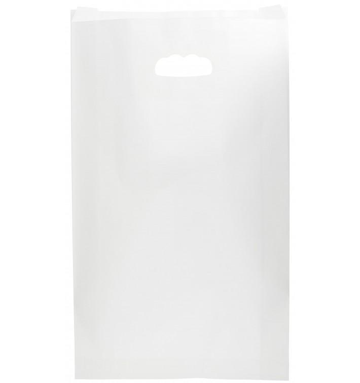 Bolsa Papel Blanco Asas Troqueladas 24+7x37cm (50 Uds)