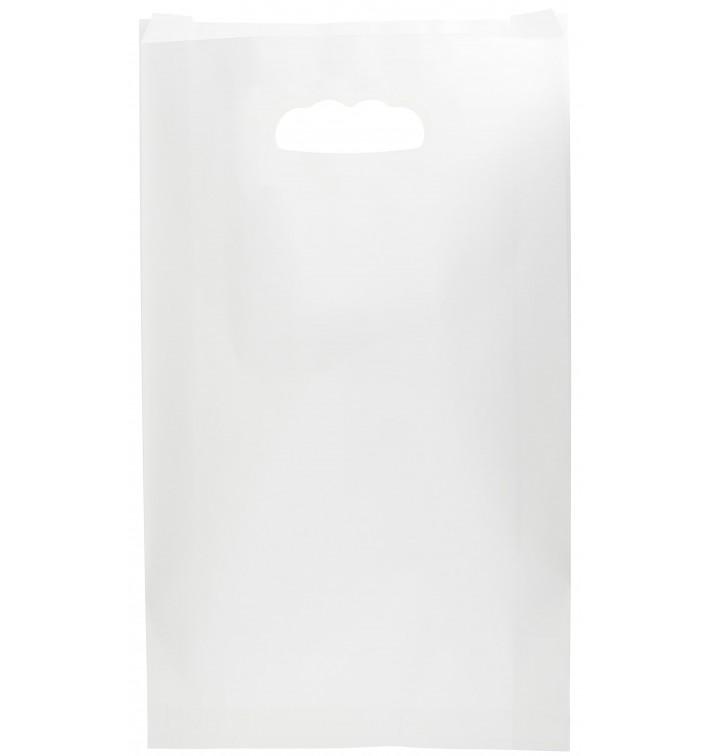Bolsa Papel Blanco Asas Troqueladas 24+7x37cm (250 Uds)
