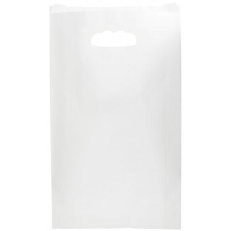 Bolsa Papel Blanco Asas Troqueladas 70g 24+7x37cm (250 Uds)