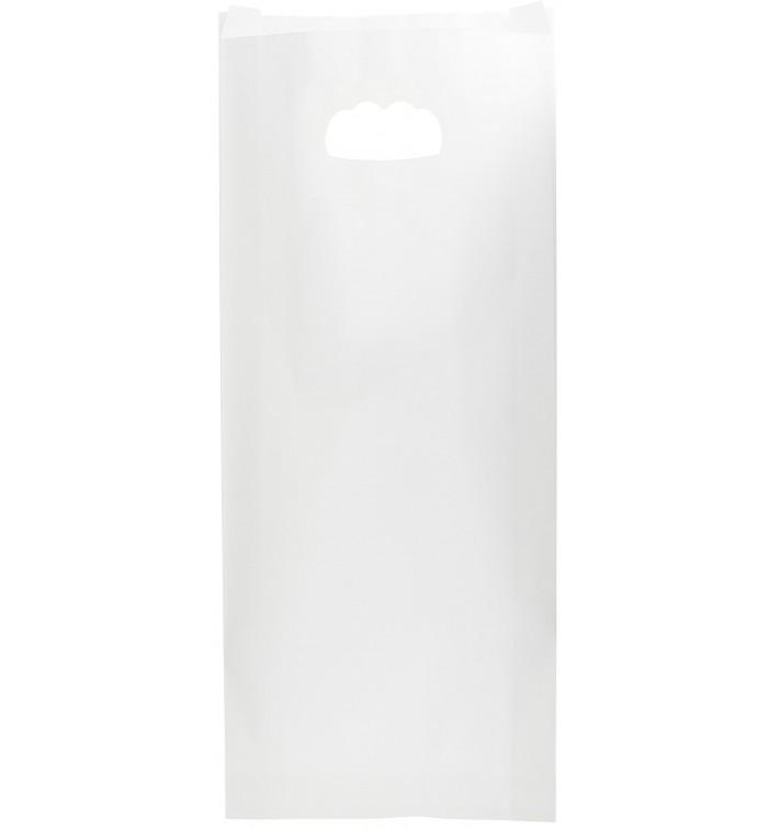 Bolsa Papel Blanco Asas Troqueladas 60g 18+6x32cm (50 Uds)