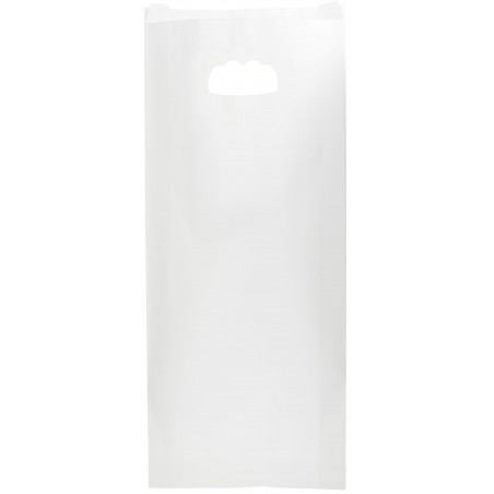 Bolsa Papel Blanco Asas Troqueladas 18+6x32cm (50 Uds)