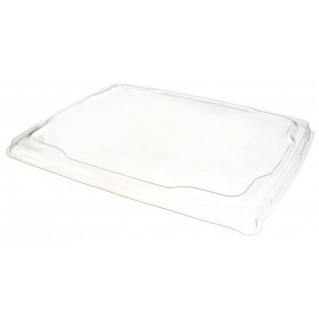 Tapa Plana de Plástico PET para Bandeja 31,6x26,5cm (25 Uds)