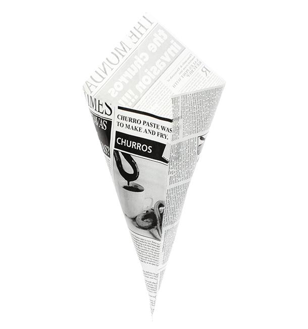Cono de Papel Antigrasa Times 420mm 600g (1.000 Uds)
