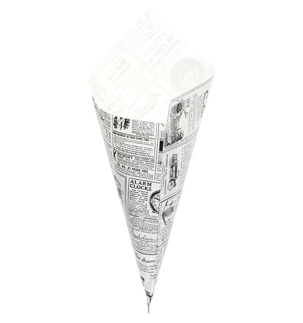 Cono de Papel Antigrasa Times 340mm 400g (1.000 Uds)