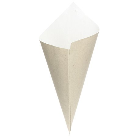Cono de Papel Estraza Natural 295mm 250g (50 Uds)