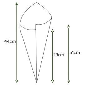 Cono de Papel Estraza Natural 420mm 600g (200 Uds)