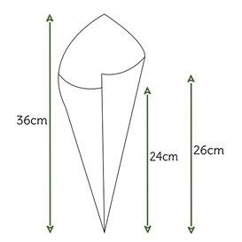 Cono de Papel Estraza Natural 340mm 400g (1.000 Uds)
