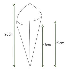 Cono de Papel Estraza Natural 240mm 100g (2.000 Uds)