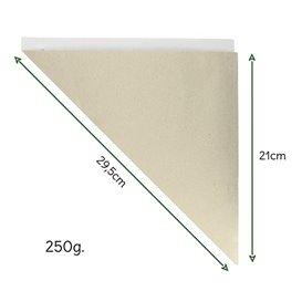 Cono de Papel Estraza Natural 295mm 250g (200 Uds)