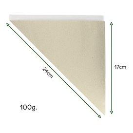 Cono de Papel Estraza Natural 240mm 100g (200 Uds)