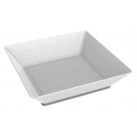 MiniPlato Hondo Caña de Azucar Blanco 6,5x6,5 cm (50 Uds)