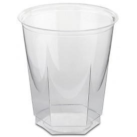 Vaso Plastico Hexagonal PS Cristal 250ml (50 Uds)