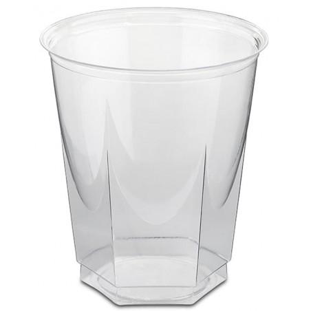 Vaso Plastico Hexagonal PS Cristal 250ml (1250 Uds)