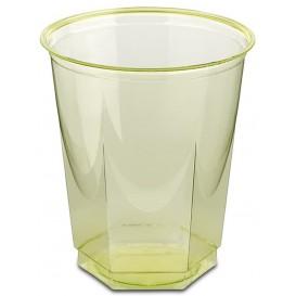 Vaso Plastico Hexagonal PS Cristal Pistacho 250ml (10 Uds)