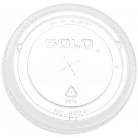 Tapa Plana con Cruz PET Cristal Ø9,2cm (1.000 Uds)