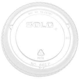 Tapa Plana Cerrada PET Cristal Ø9,8cm (100 Uds)